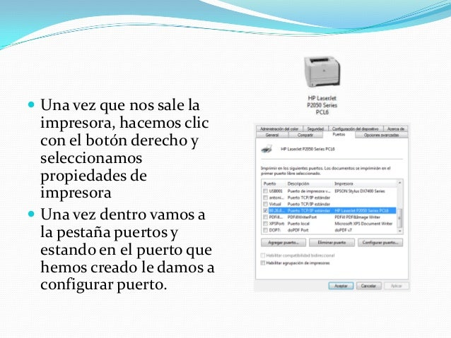 Impresión por protocolo ipp