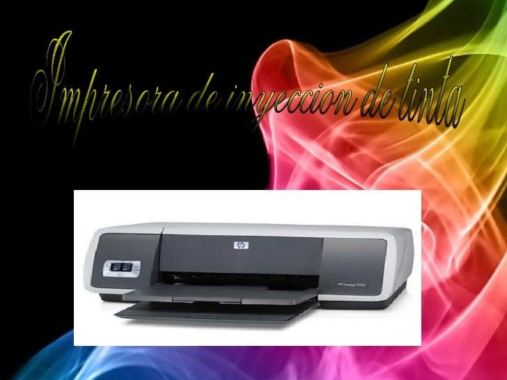 Impresora de inyeccion de tinta