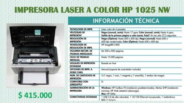 Tipos De Impresoras Caracteristicas