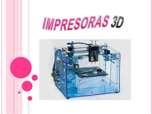 Una impresora 3D es una máquina capaz de realizar impresiones de diseños en 3D, creando piezas o maquetas volumétricas a p...
