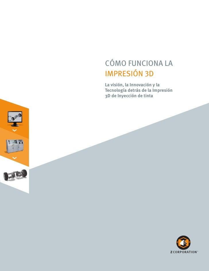 Cómo funCiona la     impresión 3D     La visión, la Innovación y la     Tecnología detrás de la Impresión     3D de Inyecc...