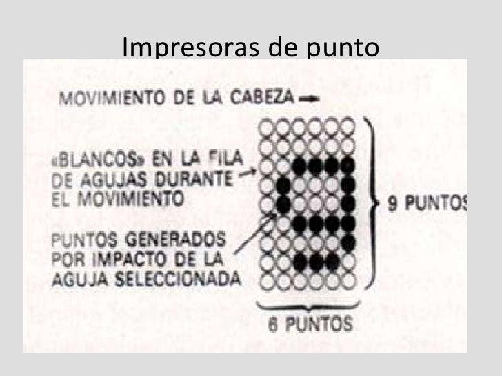 Impresoras matrices de punto