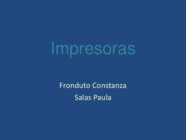 Impresoras Fronduto Constanza     Salas Paula