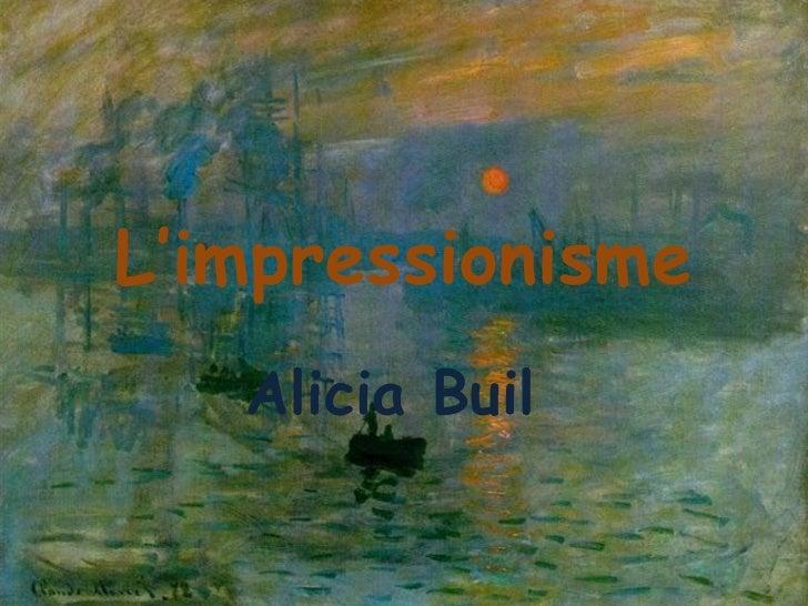 L'impressionisme Alicia Buil