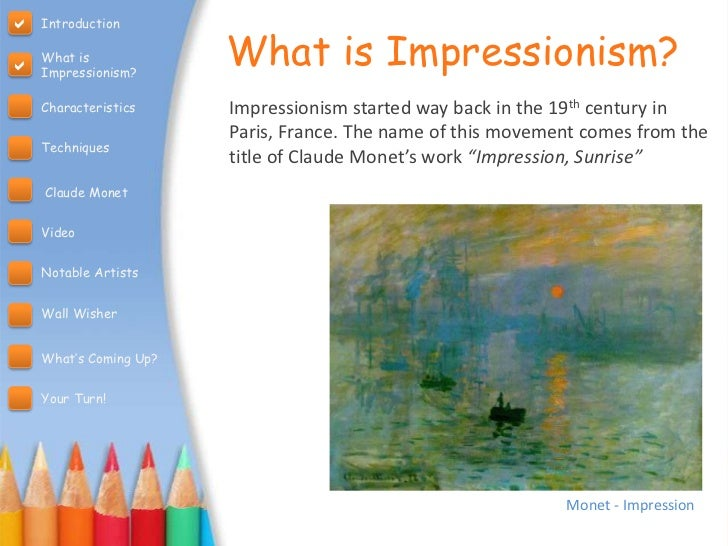 a definition and comparison of impressionism and post impressionism art Like many artists in the 1880s they looked for ways to express meaning  the  term postimpressionist does, however, acknowledge that impressionism had.