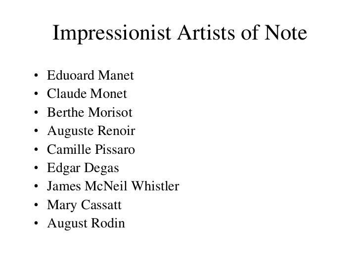 Impressionism Slides1
