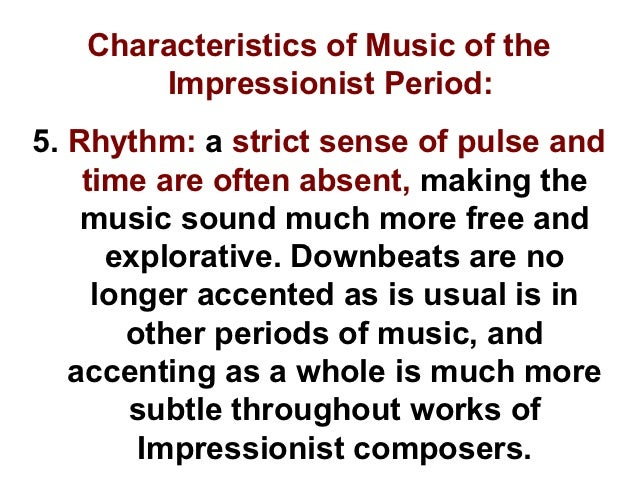 characteristics of modern music While classical music became more elite, popular music (which  composers of  the modern period include richard.