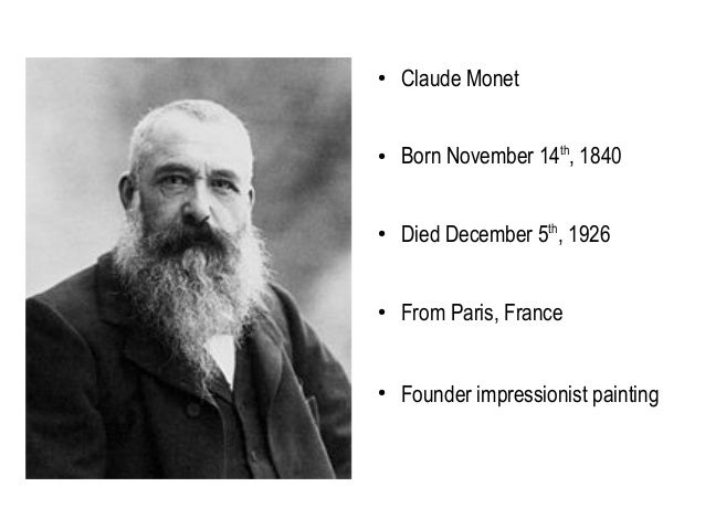 an introduction to the life of oscar claude monet Claude monet was the leader of one of the 19th century's most visually different artistic movements, impressionism, which concentrated on how light and color were perceived by the artist.