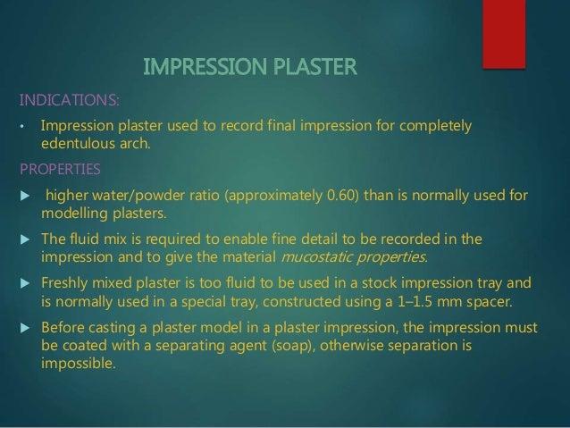Impression materials for complete denture