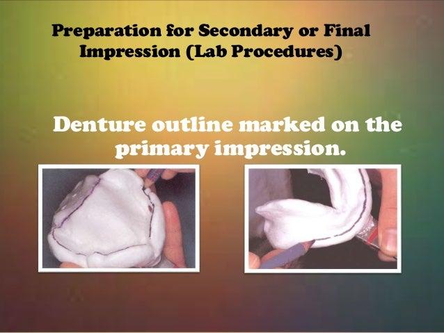 primary impression