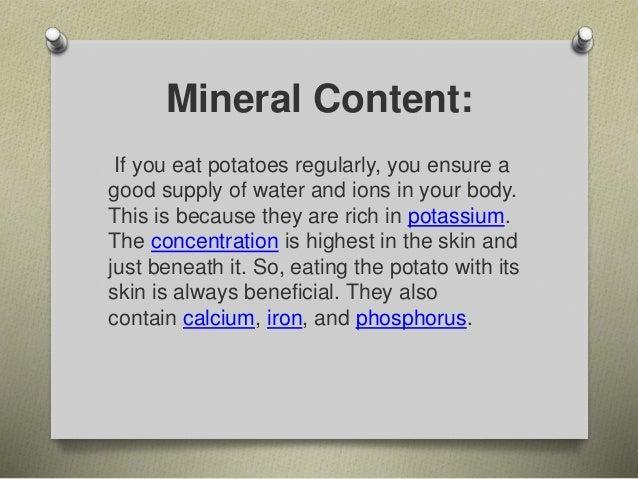 Impressive health benefits of potato A series of