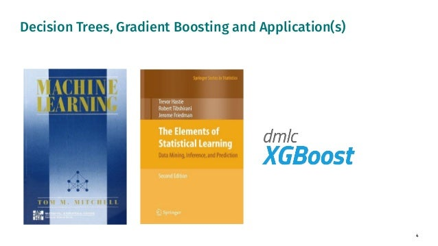 4 Decision Trees, Gradient Boosting and Application(s)