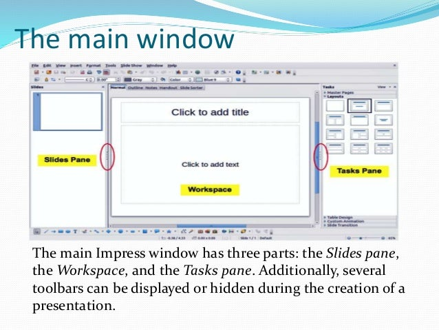 Libre office impress lesson 1 for Table design libreoffice