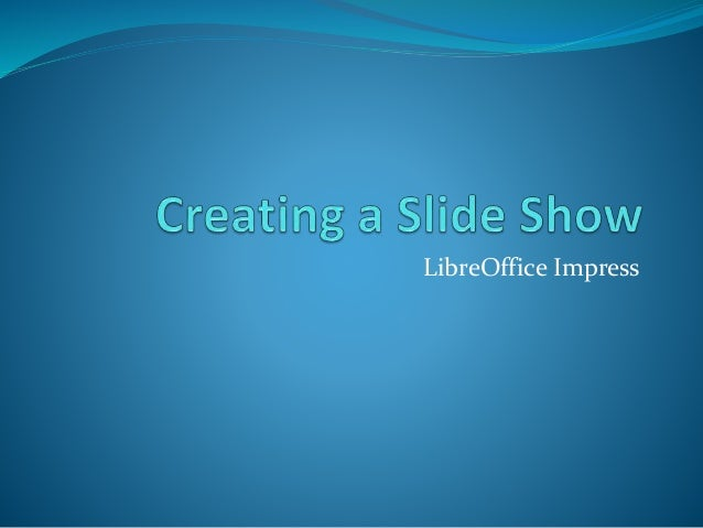 libre office impress lesson 2: creating a slide show, Presentation templates