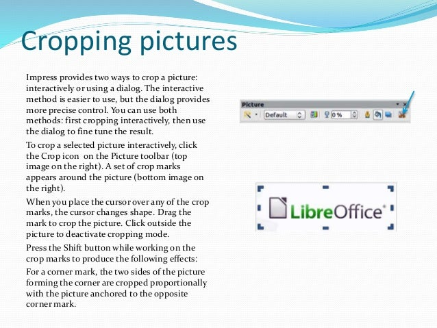 Libre Office Impress Lesson 3 Adding And Formatting Pictures