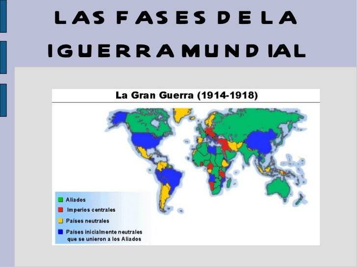 LAS FASES DE LA  I GUERRA MUNDIAL