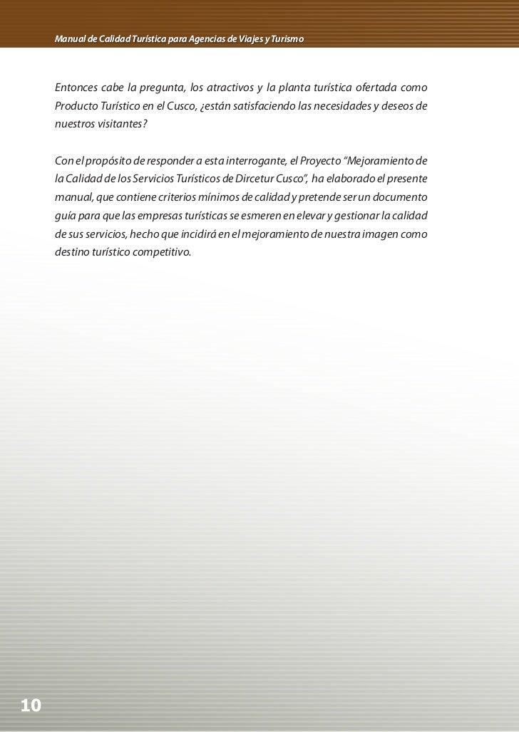 Manual de Calidad Turística para Agencias de Viajes y Turismo     Entonces cabe la pregunta, los atractivos y la planta tu...