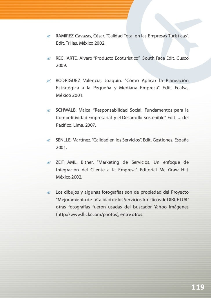 manual de calidad para agencias de viaje