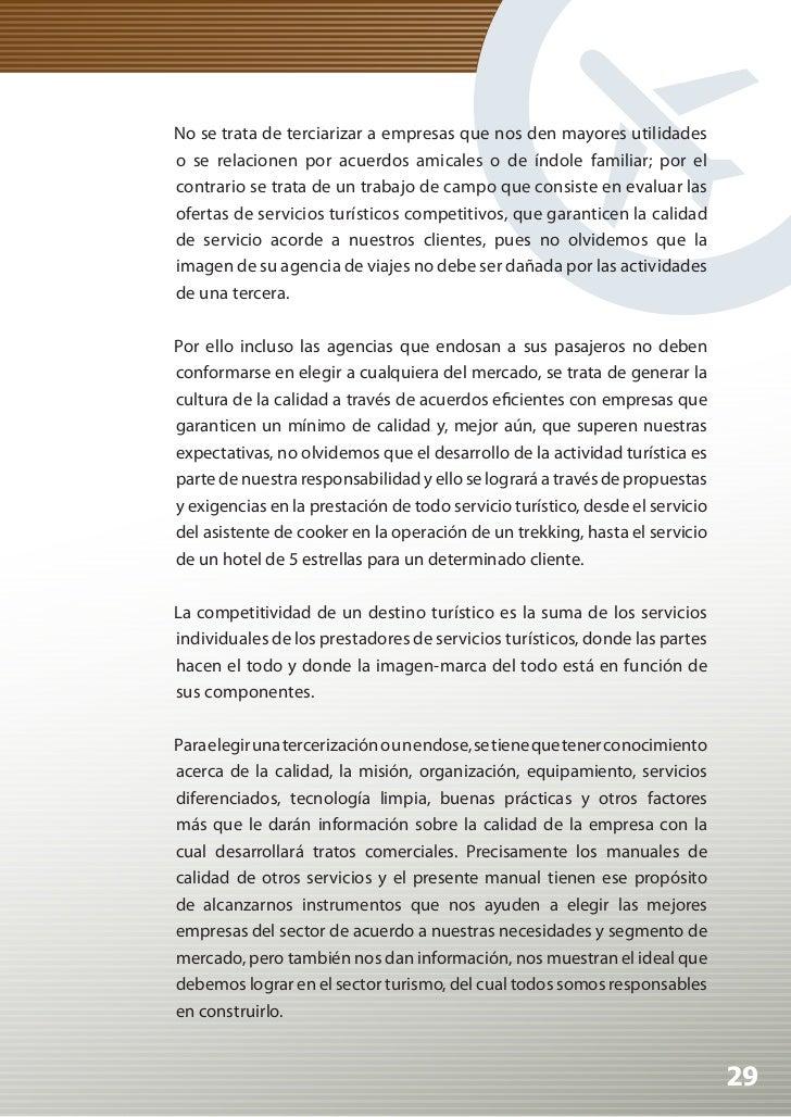 Manual de Calidad Turística para Agencias de Viajes y Turismo          2. GESTIÓN DE LA CALIDAD          La gestión de la ...