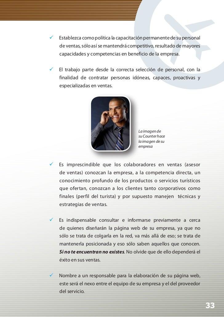 Manual de Calidad Turística para Agencias de Viajes y Turismo           No olvide que la información consignada en su pá...