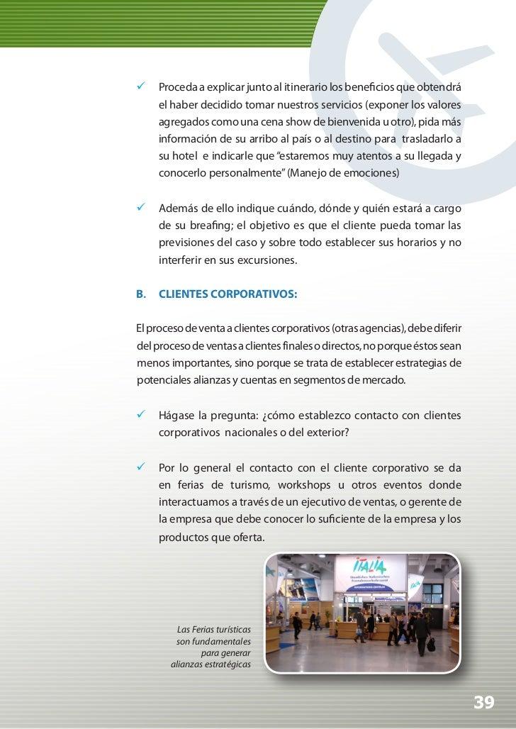 Manual de Calidad Turística para Agencias de Viajes y Turismo                 La excelencia del material de venta como m...