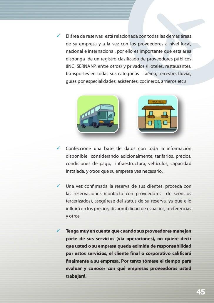 Manual de Calidad Turística para Agencias de Viajes y Turismo                 Haga el esfuerzo de trabajar con proveedor...
