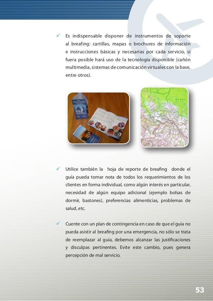Manual de Calidad Turística para Agencias de Viajes y Turismo                C.   EL GUIA EN EL SERVICIO:                ...