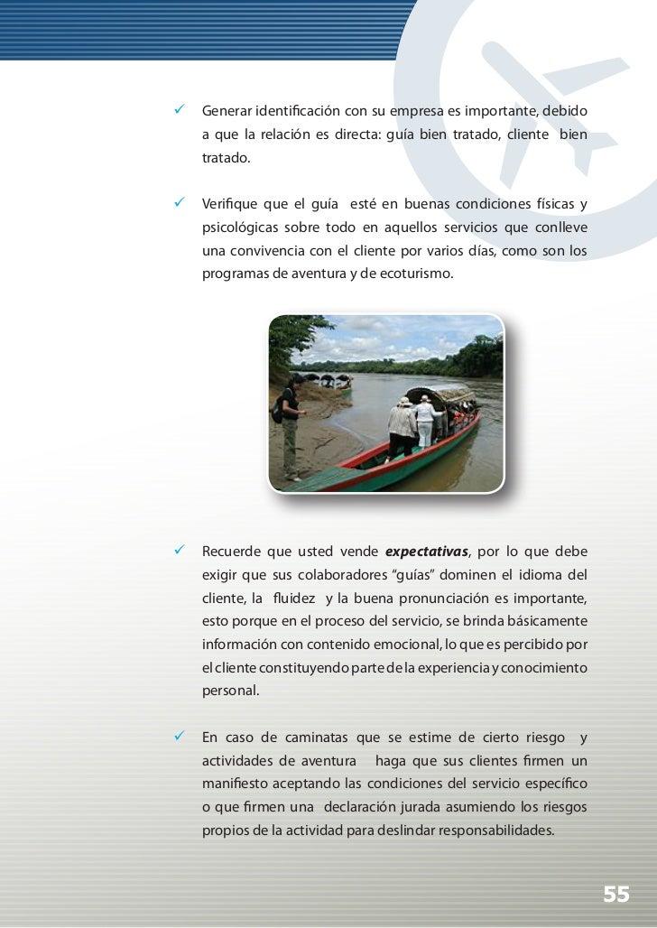 Manual de Calidad Turística para Agencias de Viajes y Turismo                 En los viajes de aventura la previsión es ...