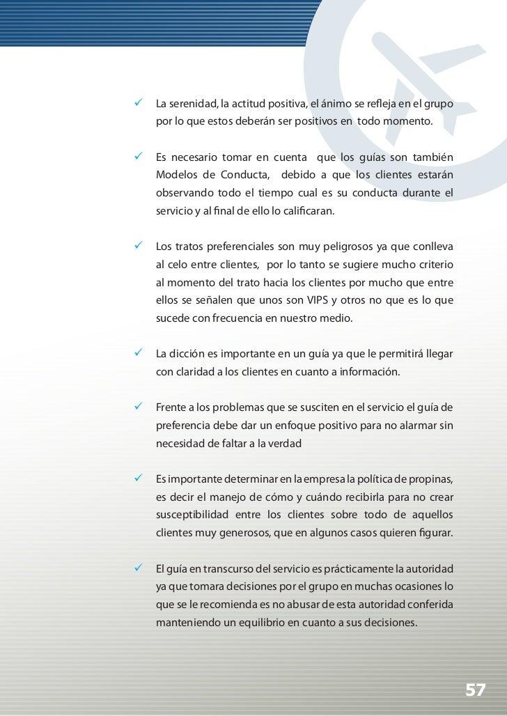 Manual de Calidad Turística para Agencias de Viajes y Turismo                     Perfil mínimo que debe cumplir un guía y...