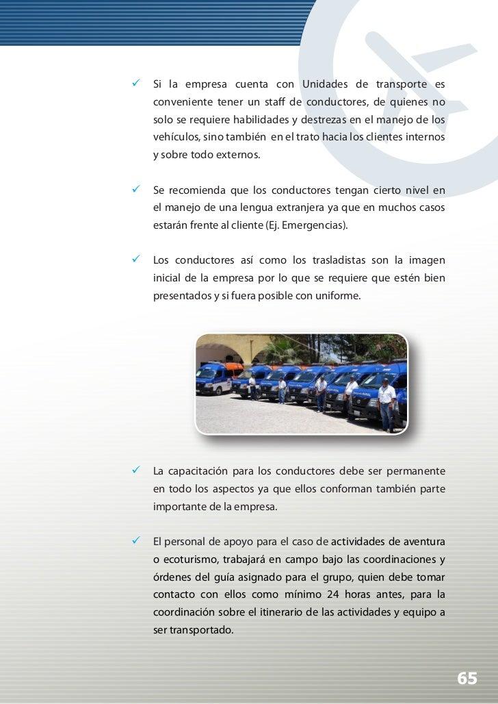 Manual de Calidad Turística para Agencias de Viajes y Turismo                Se recomienda vía talleres, círculos de cal...