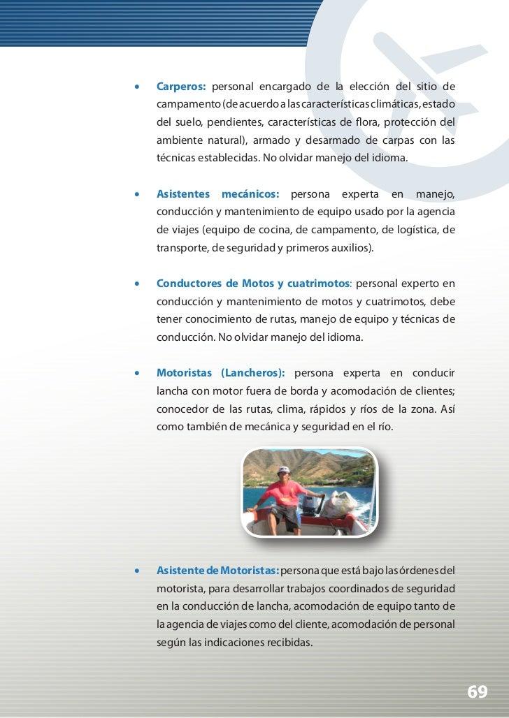 Manual de Calidad Turística para Agencias de Viajes y Turismo                •   Estibadores (sinónimo de porteadores en ...