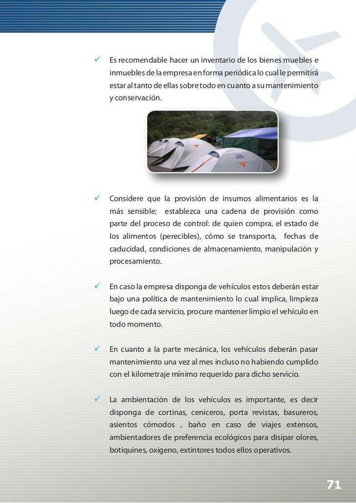 Manual de Calidad Turística para Agencias de Viajes y Turismo                 Los colaboradores a cargo de esta área deb...