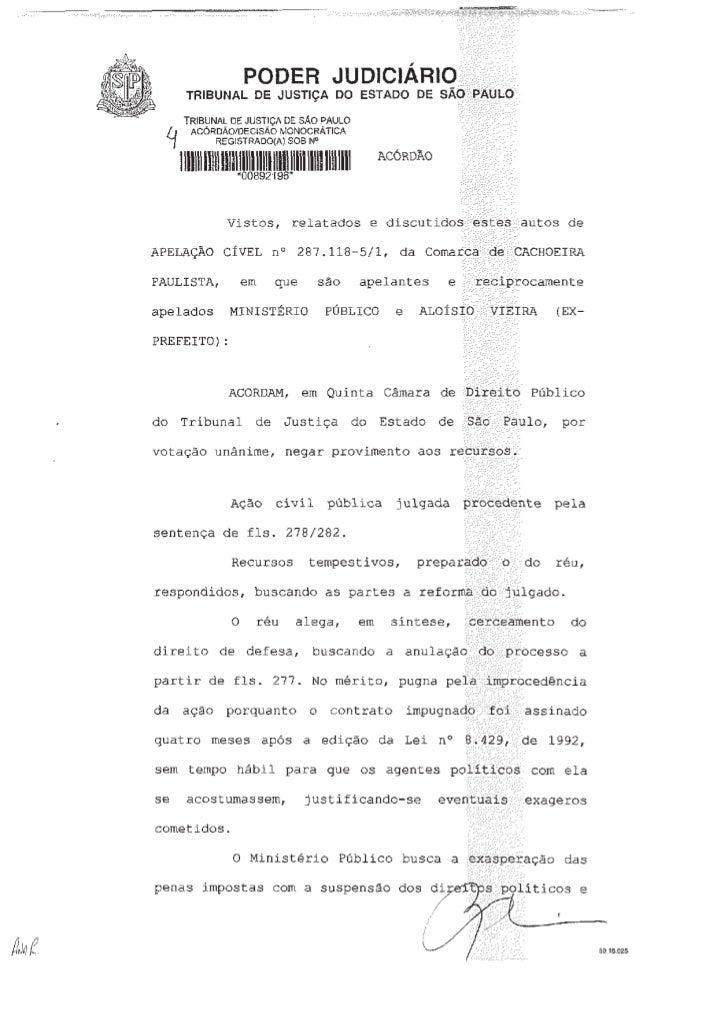 Mais um processo de Improbidade Administrativa - Aloisio Vieira