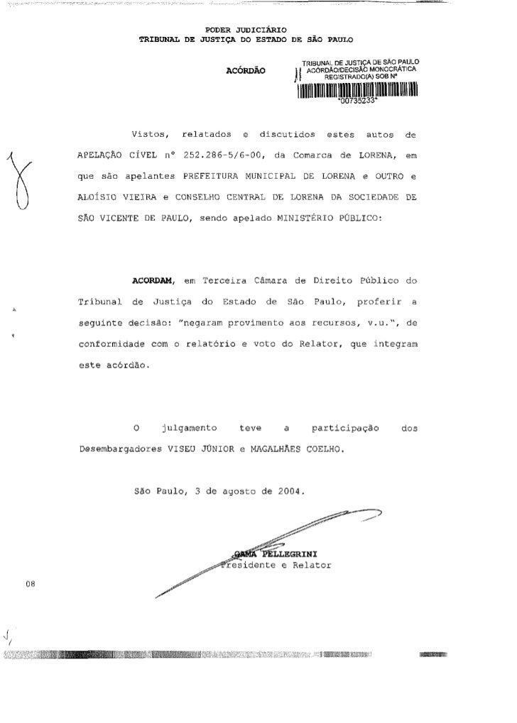PODER J U D I C I Á R I O            TRIBUNAL DE JUSTIÇA DO ESTADO DE SÃO PAULO                                           ...