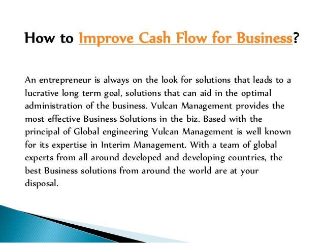 cash flow for business