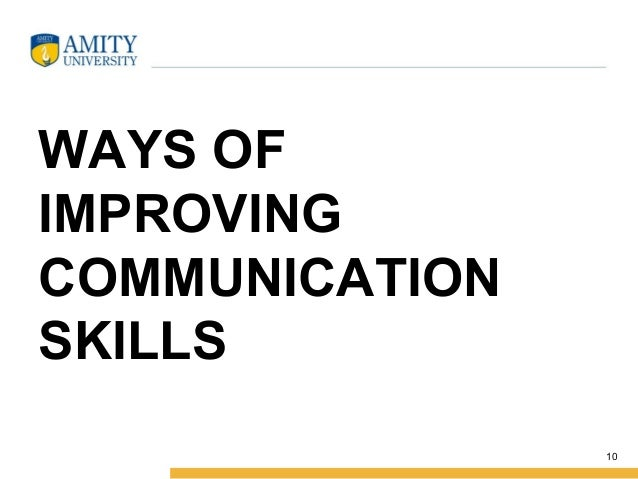 Improve communication skills