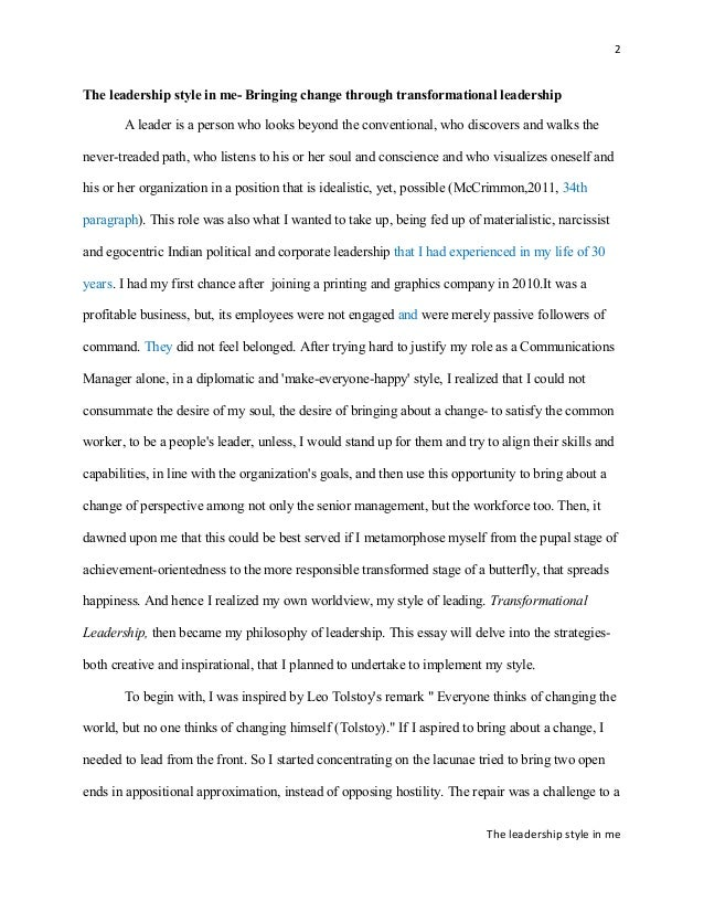 improved essay on my leadership philosophy 2 2 the leadership style
