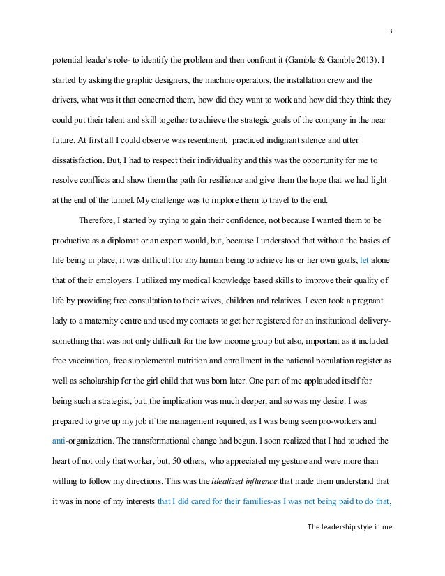 English Essay Story My Leadership Style Essay Example Of A Thesis Essay also Proposal Essay Topics Examples Essay About My Leadership Potential Examples Of A Thesis Statement For A Narrative Essay
