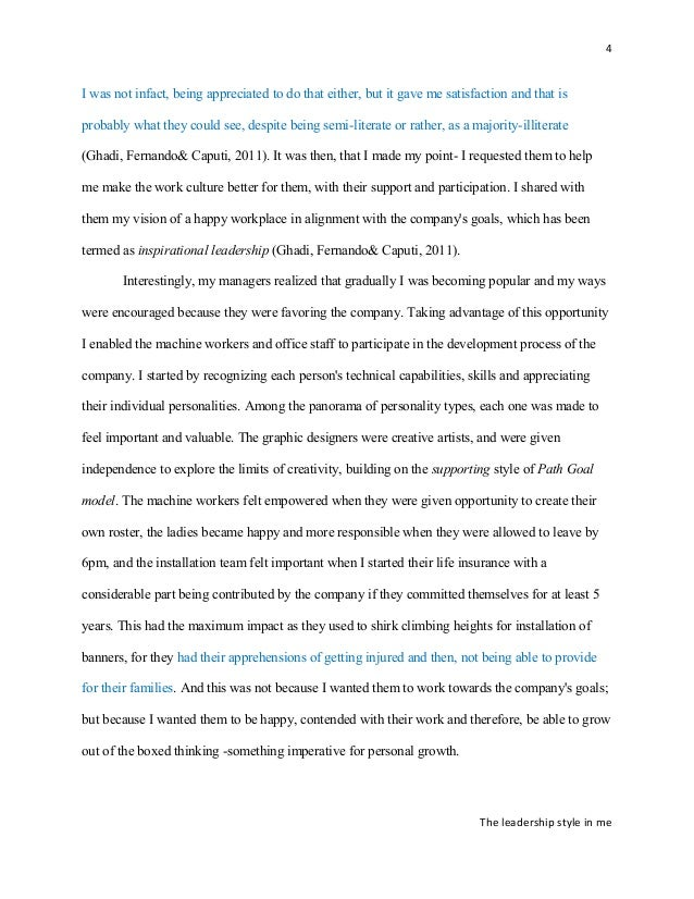 improved essay on my leadership philosophy the leadership style in me 4