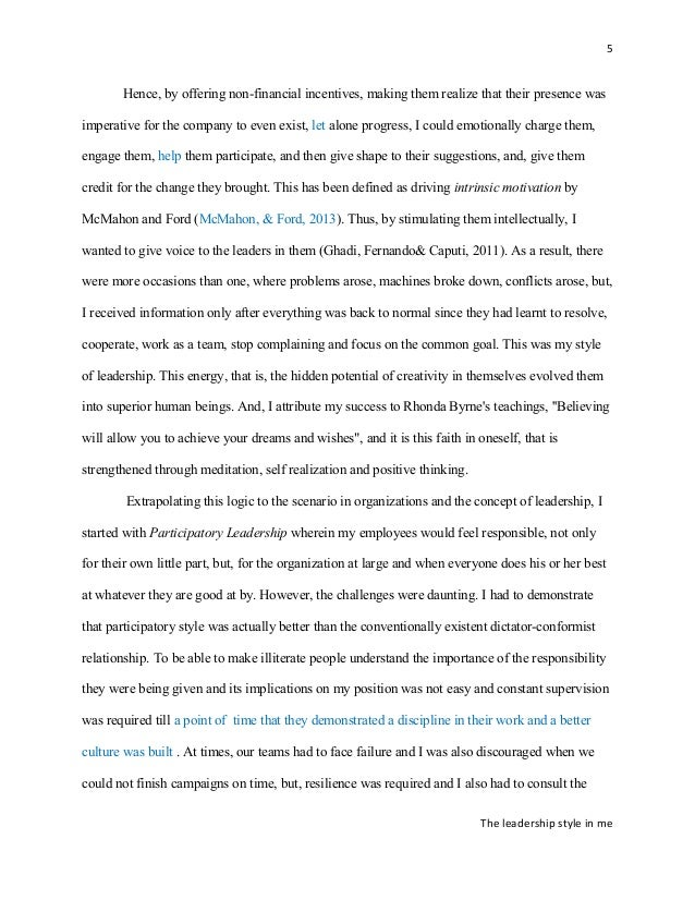 improved essay on my leadership philosophy the leadership style in me 5