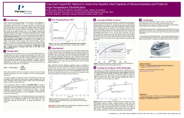 Improved HyperDSC Method to Determine Specific Heat Capacity of Nanocomposites and Probe for                              ...