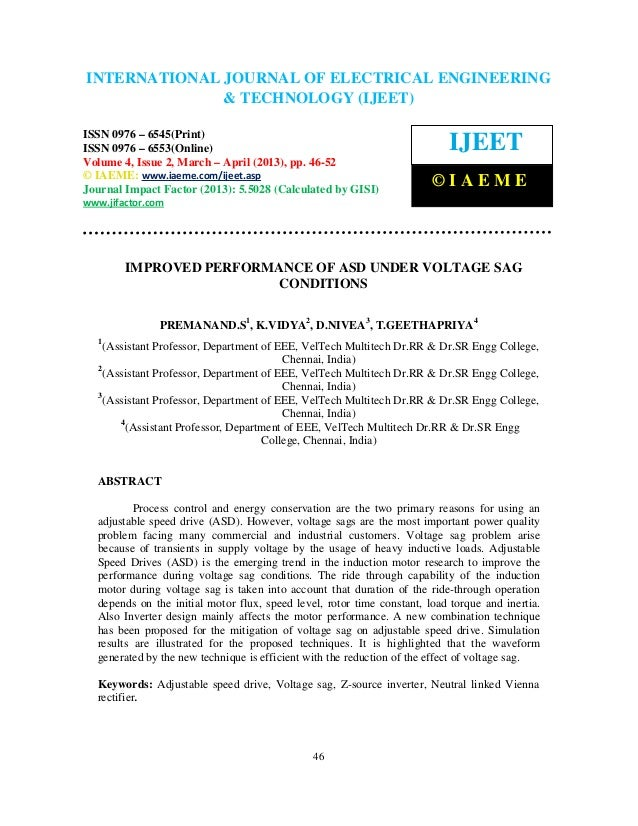 INTERNATIONAL JOURNAL OF ELECTRICAL ENGINEERING International Journal of Electrical Engineering and Technology (IJEET), IS...