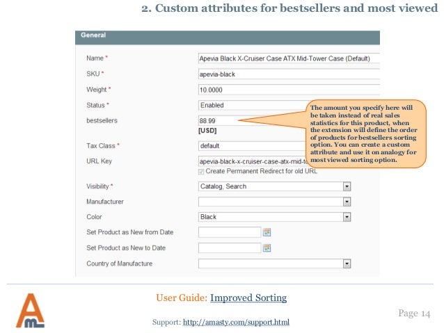 Improved Sorting: Magento Extension by Amasty  User Guide