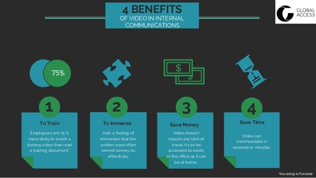 4 benefits of video in internal communications