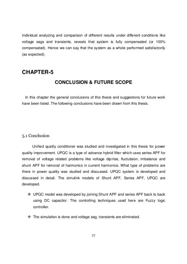 thesis on power quality improvement using upqc