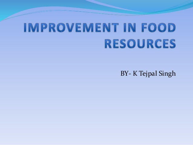Improvements in food resources for Cuisine resources