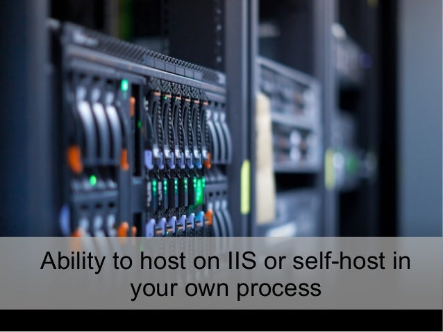Ability to host on IIS or self-host in your own process