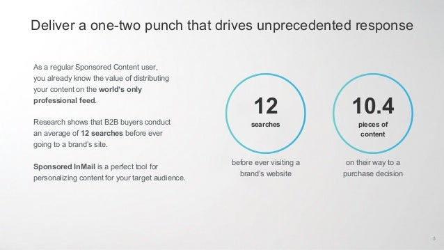 Use Sponsored InMail to enhance your Sponsored Content performance Slide 3