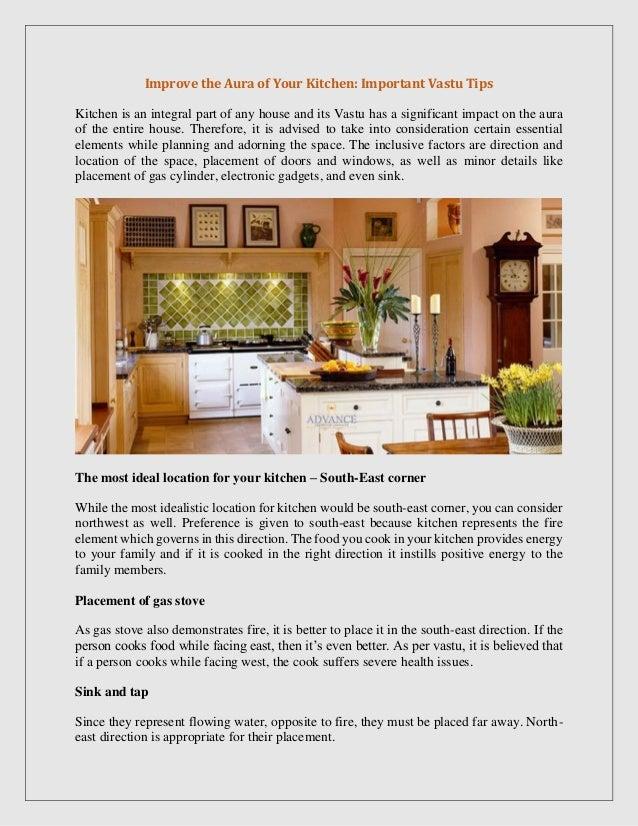 Improve The Aura Of Your Kitchen Important Vastu Tips