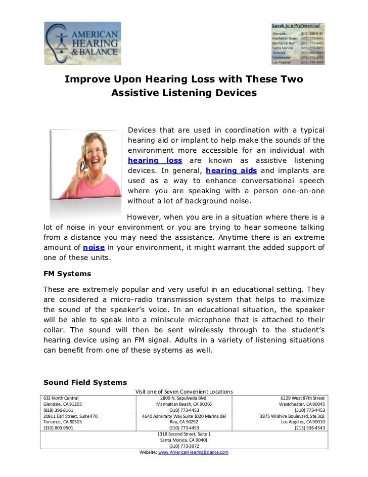 Improve Upon Hearing Loss with These Two                 Assistive Listening Devices                               Devices...